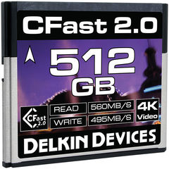Карта памяти Delkin Devices 512GB Cinema CFast 2.0 560 - 495MB/s