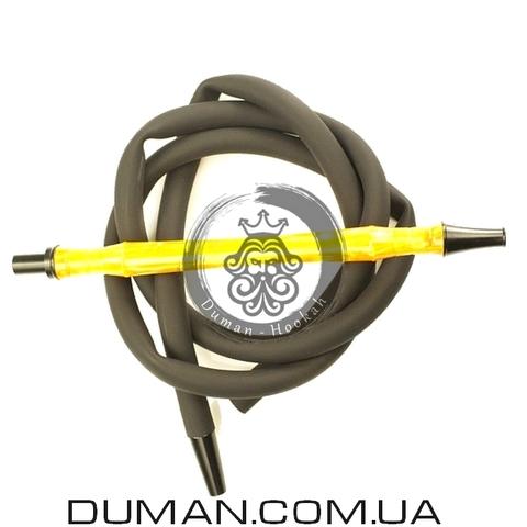 Комплект силиконовый шланг Soft-Touch и мундштук Yahya Smoth Set для кальяна  Yellow