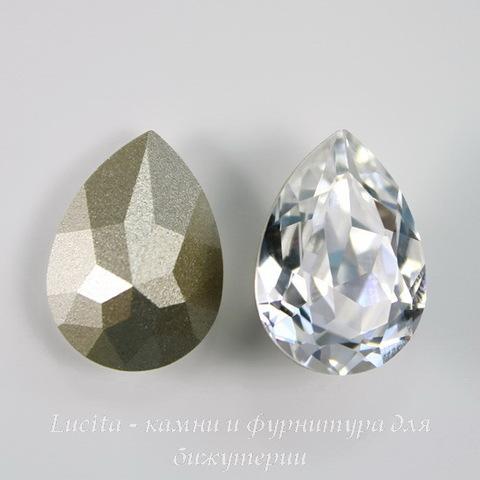 4320 Ювелирные стразы Сваровски Капля Crystal (18х13 мм) ()