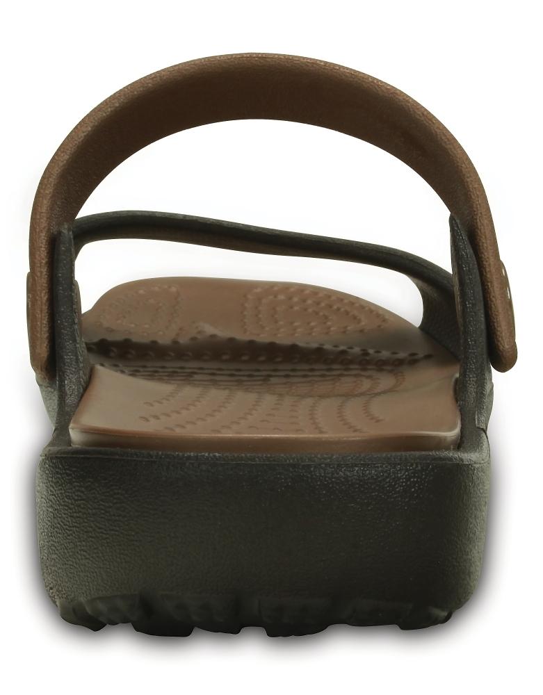 Женские сандалии Crocs Coretta W (Espresso/Bronze) фото