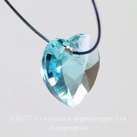 6228 Подвеска Сваровски Сердечко Light Turquoise (10,3х10 мм)