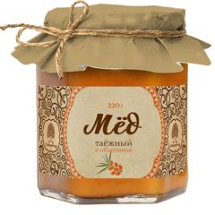 Мёд Таёжный, Сибирский кедр, с соком облепихи, 220 г