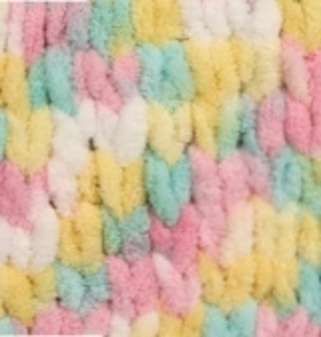 Пряжа Alize Puffy Color лимон-розовый-мята 5862