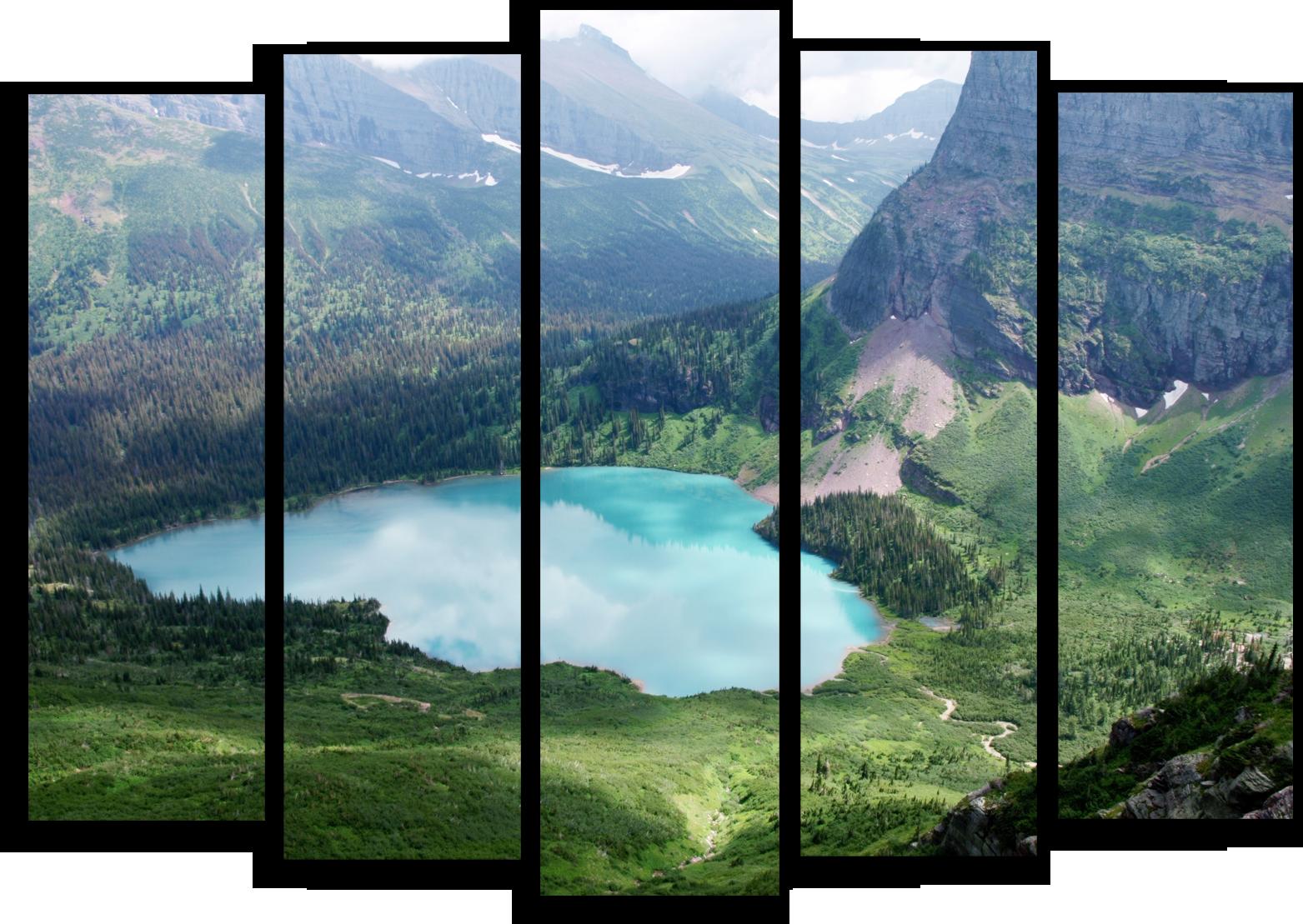 """Природа Модульная картина """"Небесное отражение"""" М556.png"""