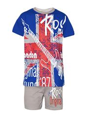 M005-2 Костюм детский (футболка+шорты), синий