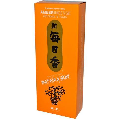 Японские благовония Morning Star Amber 200 шт