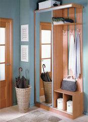 Шкаф одностворчатый с зеркалом, ширина 120 см