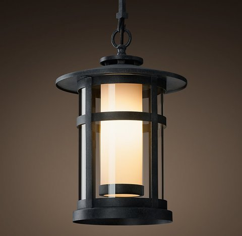 Rutherford Pendant - Weathered Zinc