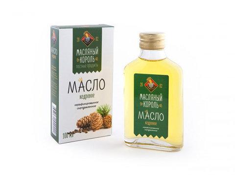 Масляный король масло кедрового ореха стекляная бутылка 0,1 л