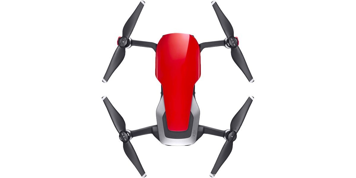 Квадрокоптер DJI MAVIC AIR (EU) Flame Red, Красный вид сверху