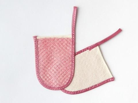 Шелковица, Пилинг-варежка для лица-мини (розовый)