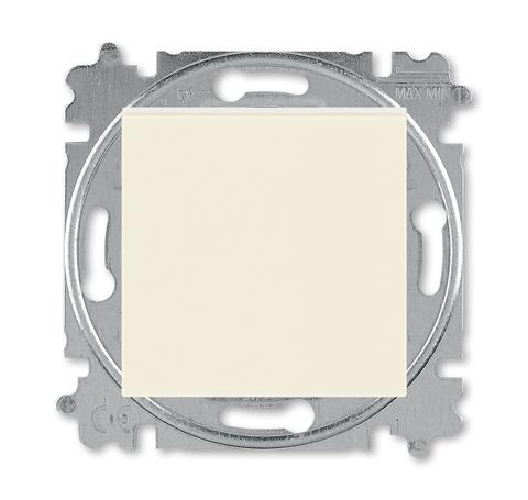 Выключатель одноклавишный. Цвет Слоновая кость / белый. ABB. Levit(Левит). 2CHH590145A6017