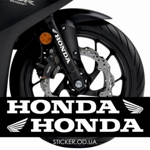 Набор наклеек навилку Honda