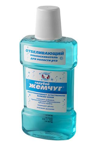Modum Голубой жемчуг Ополаскиватель для полости рта Отбеливающий 350мл