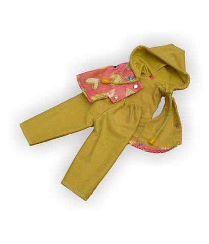 Костюм с жилетом - Оливковый. Одежда для кукол, пупсов и мягких игрушек.