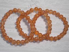 Бусины Битое стекло светло-оранжевые