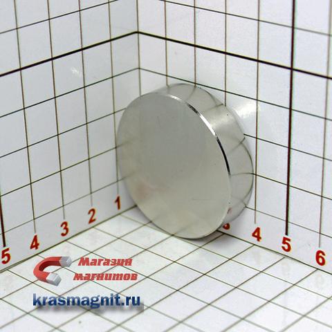 Неодимовый магнит диск 40х10 мм