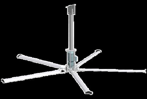 4 метра, 5 лопастей | Вентилятор потолочный для коровников