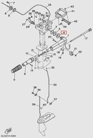 Втулка румпеля  для лодочного мотора T3S SEA-PRO (11-4)