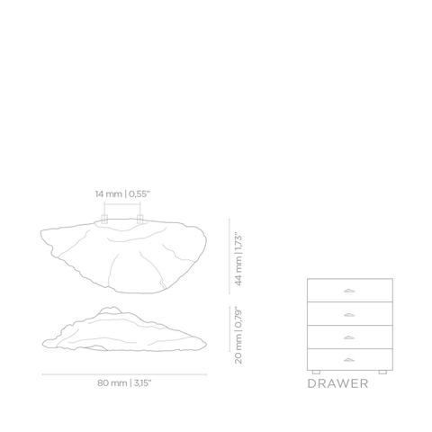 Мебельная ручка PullCast FUNGI EA1032