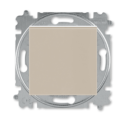 Выключатель одноклавишный. Цвет Кофе макиато / белый. ABB. Levit(Левит). 2CHH590145A6018