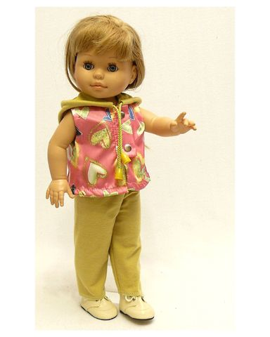 Костюм с жилетом - На кукле. Одежда для кукол, пупсов и мягких игрушек.