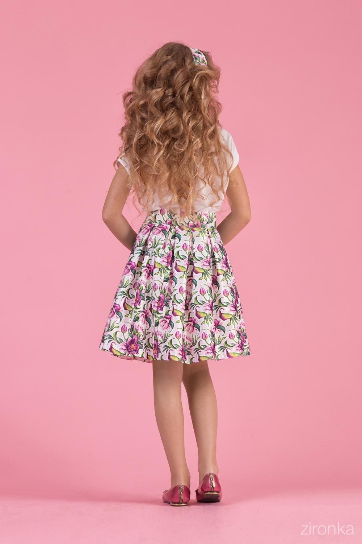 Комплект (блузка, юбка) для девочки 64-8007-1