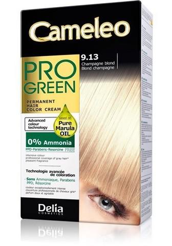 Delia Cosmetics Cameleo Pro Green Краска для волос тон 9.13 шампанский блондин