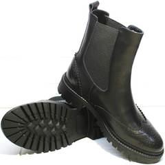Осенняя обувь женская Jina 7113 Leather Black