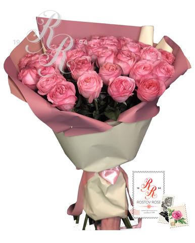 Букет пионовидной розы Пинк экспрешн