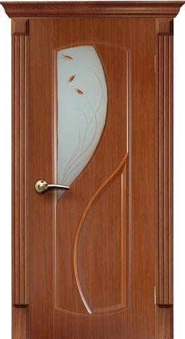 Дверь AIRON Фаина, фьюзинг, цвет тёмный дуб, остекленная