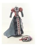 Платье для визитов - Серо-зеленый / розовый. Одежда для кукол, пупсов и мягких игрушек.