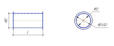 Воздуховод круглый 250 мм 0,5 м полипропилен