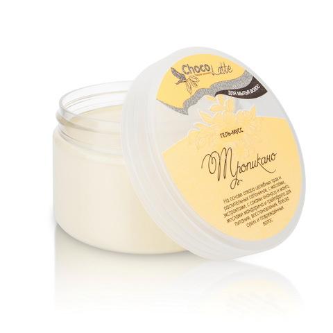 Гель-крем для мытья волос МУСС ТРОПИКАНО с соками ананаса, манго, маслами мандарина и грейпфрута, 280ml TM ChocoLatte