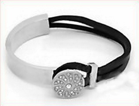 Основа для браслета из двух частей для шнура 8,5х2,5 мм, 7 см (цвет - античное серебро) (Картинка)