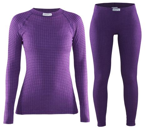 Комплект термобелья Craft Warm Wool женский Purple