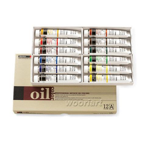 Набор масляных красок ShinHanart OIL COLOR PRO (A), 12 цветов, 50 мл