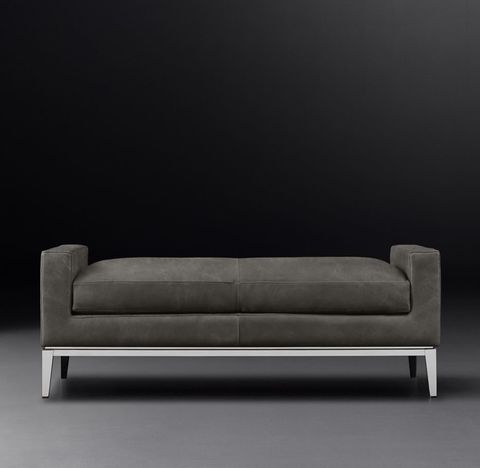 Italia Leather Bench