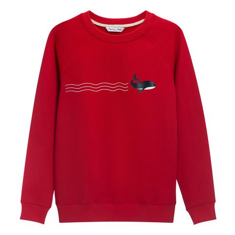 Свитшот Whale Red мужской