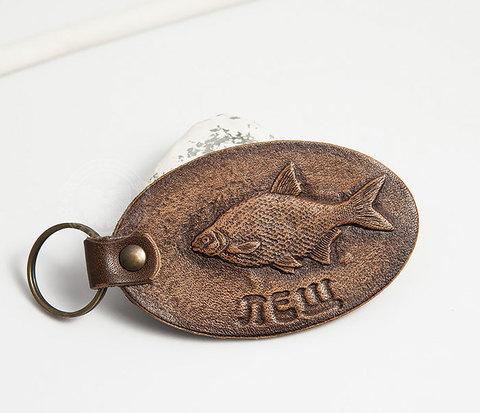 Кожаный брелок «Ловись рыбка. Лещ»