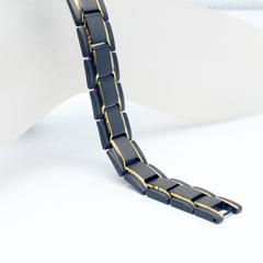 Модный мужской черный магнитный браслет из нержавеющей стали