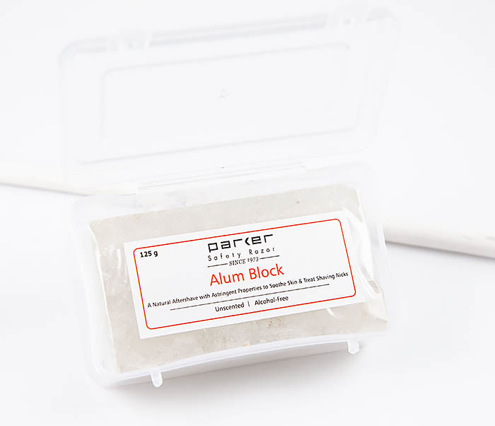 RAZ471 Квасцовый камень PARKER от порезов после бритья (Alum block, 125 гр)