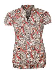 T7016-5 блузка женская, бежево-розовый