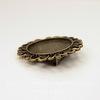 Основа для броши с сеттингом для кабошона 25 мм, 38 мм (цвет - античная бронза)