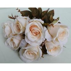 Розы искусственные евро, удлиненные бутоны, букет 7 цветков.