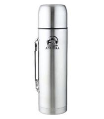 Термос «Арктика» с узким горлом и ручкой, серебристый 1,2 л
