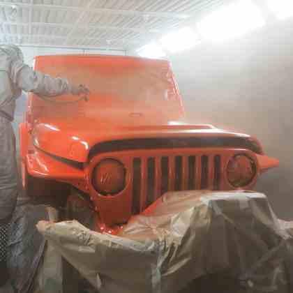 Покраска Jeep Wrangler база лак фото-1