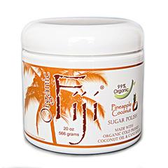 """Органический кокосовый скраб для лица и тела на основе тросникового сахара """"Ананас"""", Organic Fiji"""