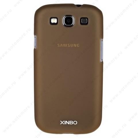 Накладка XINBO пластиковая для Samsung Galaxy S3 i9300 коричневая