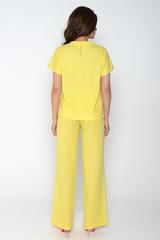 """Ультрамодный брючный костюм на лето. Блузон """"кимоно"""", брюки удобной посадки с карманами. Сзади по поясу резинка. (Длина: 44=105см; 46=106см; 48=107см; 50=108см;)"""